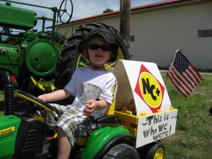 Kids love tractors too